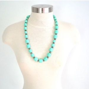 J.Crew turquoise beaded statement necklace